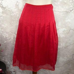 J Crew red skirt